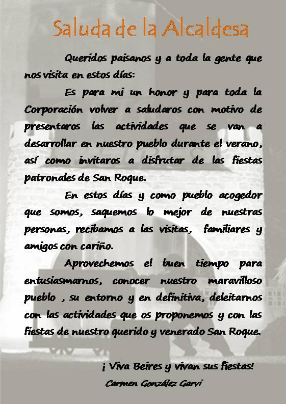 SALUDA DE LA ALCALDESA