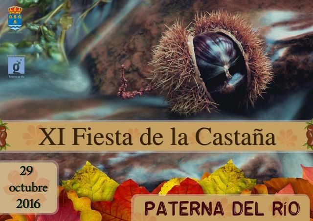 Cartel anunciador XI Fiesta de la Castaña en Paterna del Río