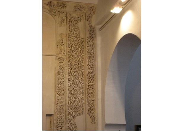 Detalle decoración de la antigua mezquita en Fiñana © Fotografía María Navarro