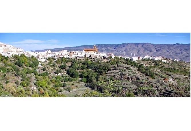 Vista de Abrucena desde el Castillejo. © Fotografía José Ángel Fernández