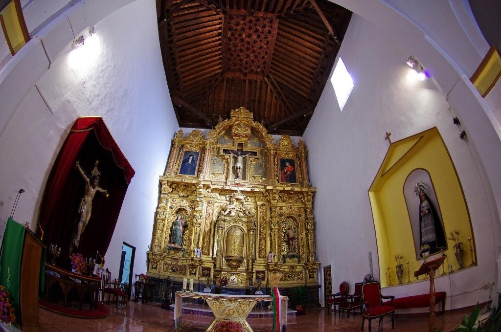 Interior de la iglesia mudéjar en Paterna del Río © Fotografía José Ángel Fernández