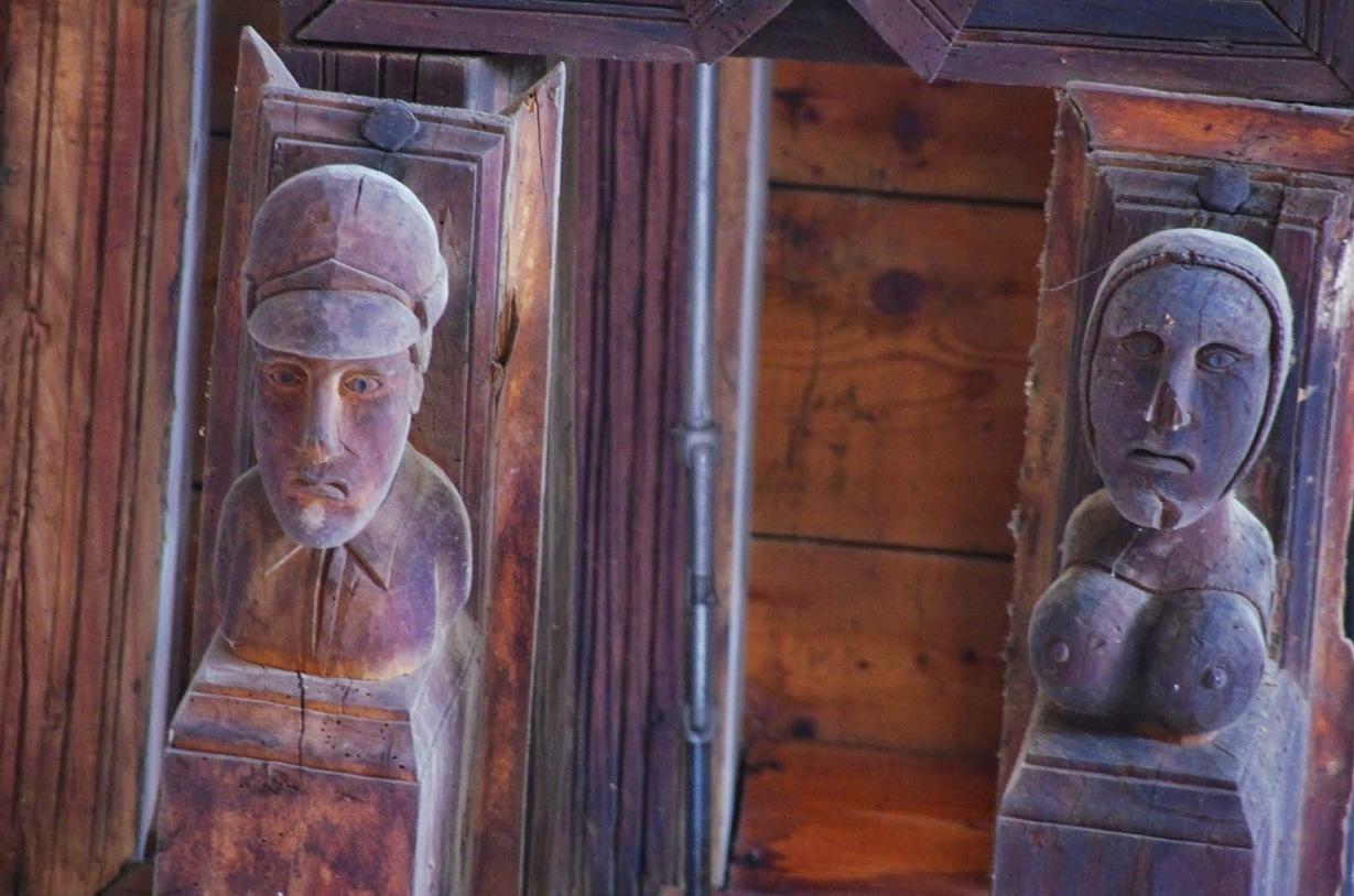 Canecillos artesonado de la iglesia de Paterna del Río © Fotografía José Ángel Fernández