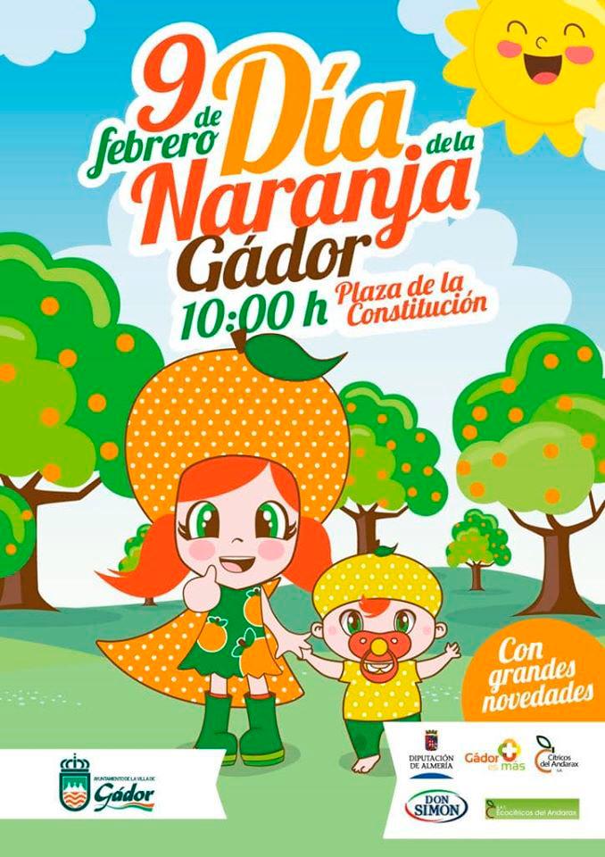Gádor se convierte en la capital nacional de los cítricos en su popular fiesta del 'Día de la Naranja'