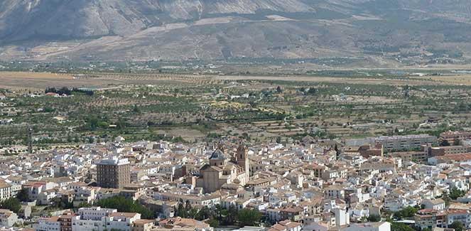 Panorámica de Vélez Rubio desde el Cerro del Castellón . © Fotografía: Mª Navarro