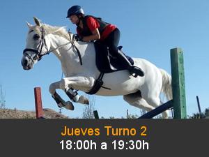 Taller Equitación Turno 2 de 18 a 19:30 horas