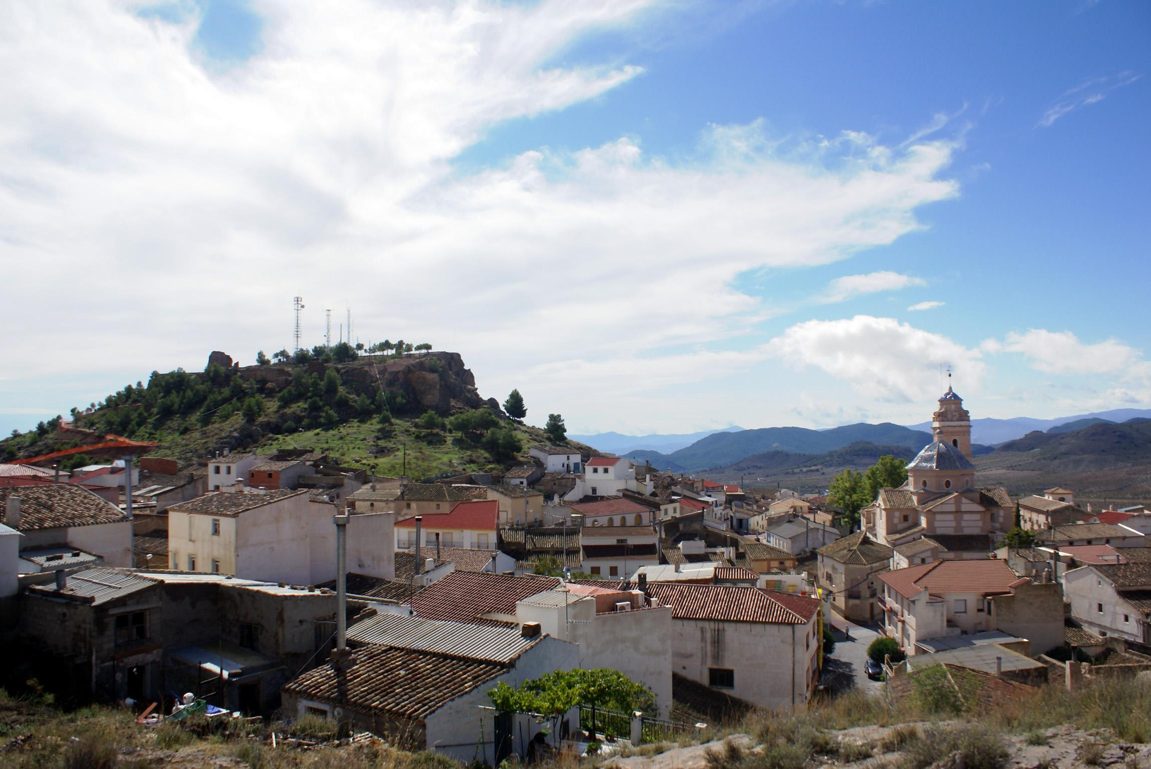 Oria, situada entre la Alcazaba y la Basílica. © Fotografía: Rafael Pozo