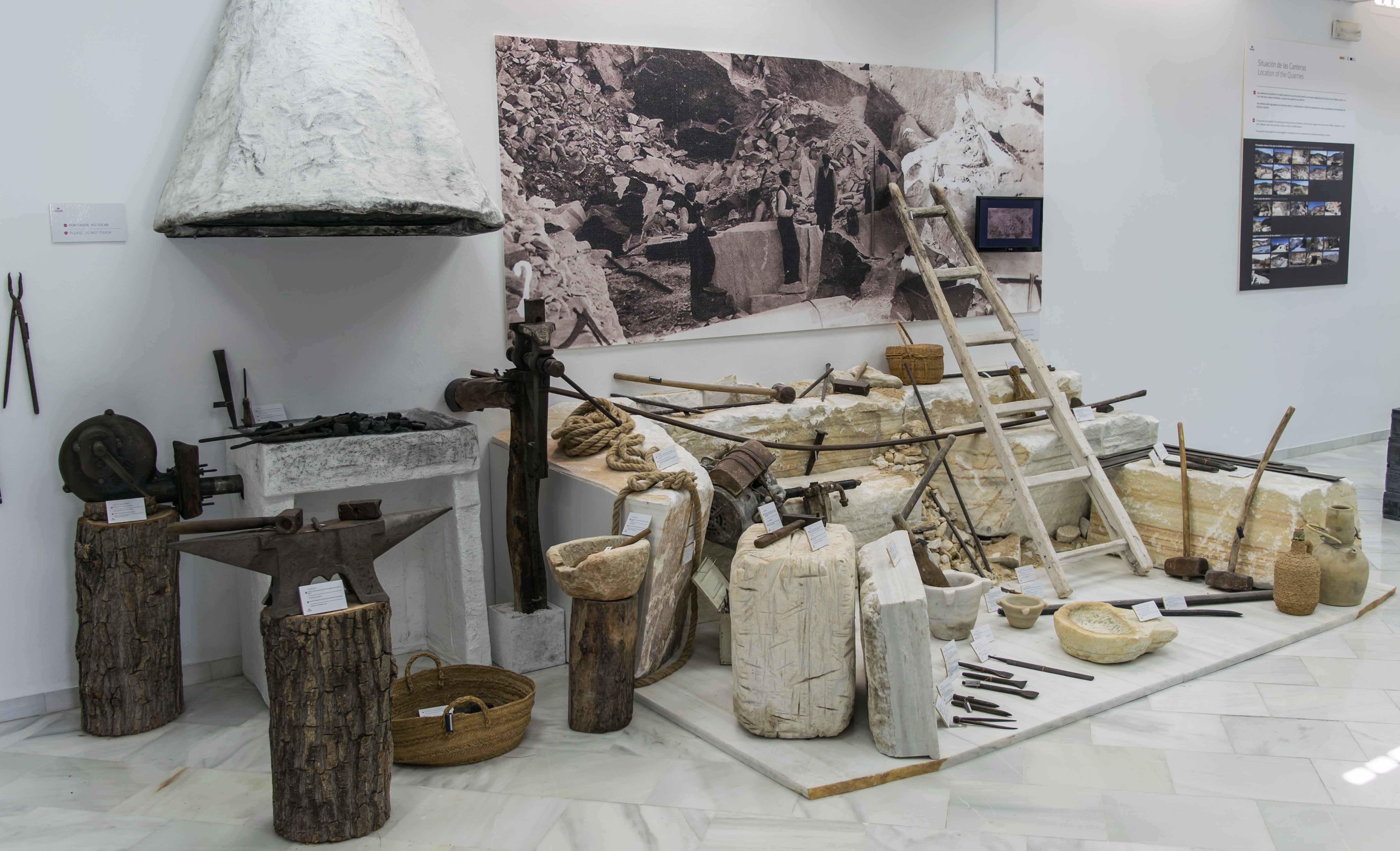 Detalle de una sala del Centro de Interpretación del Mármol en Macael. © Fotografía: Alfonso Ruiz
