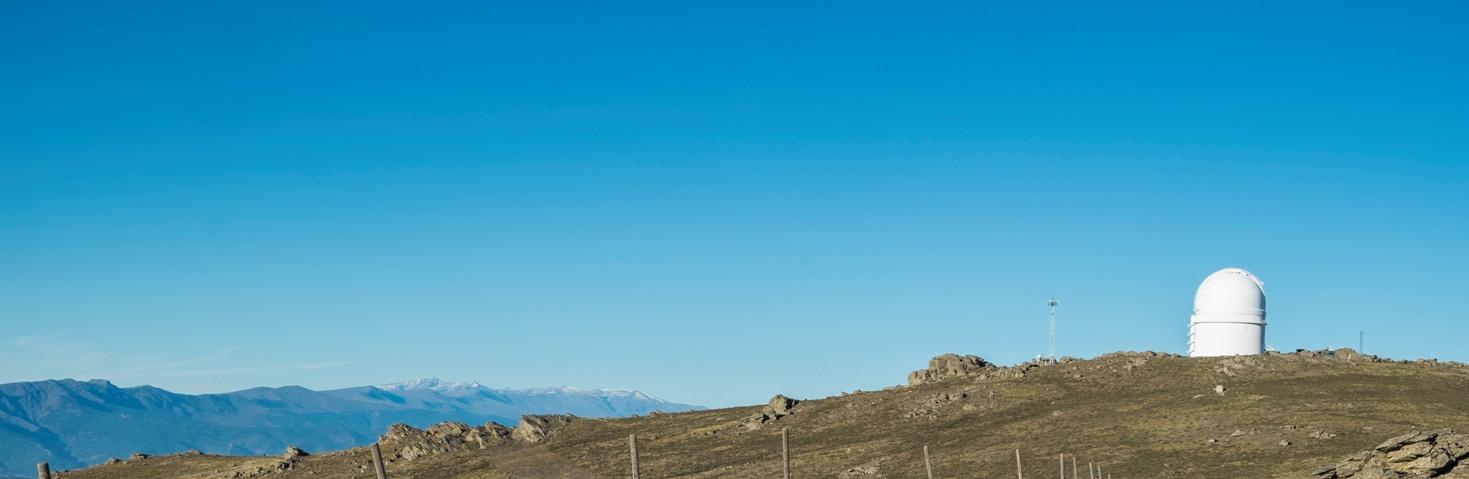 Cúpula del observatorio de Calar Alto en la Sierra de los Filabres © Fotografía: Paco Bonilla