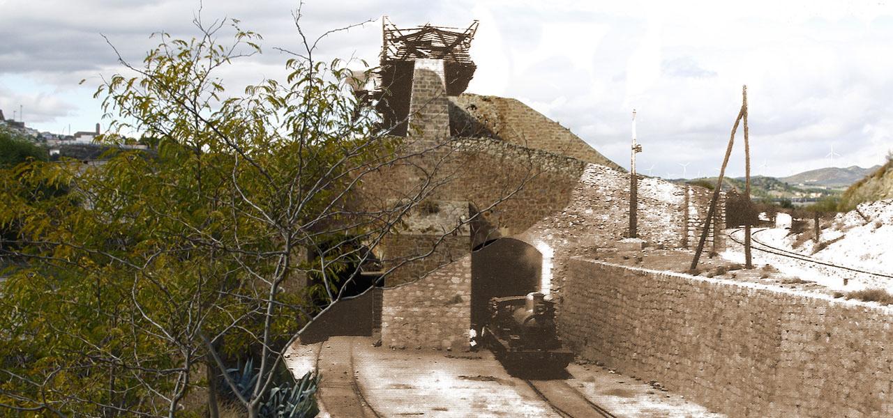 Reconstrucción idealizada del funcionamiento del cargadero de Los Canos