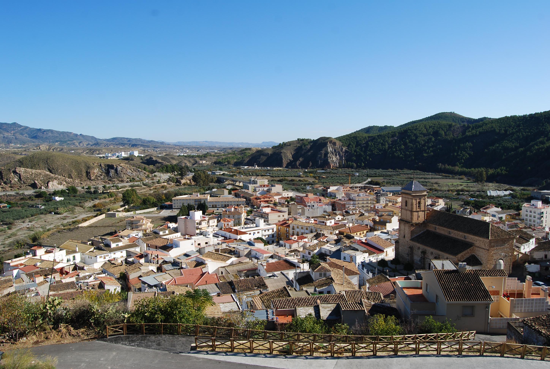 Vista general de Purchena y el valle del Almanzora. © Fotografía: Andrés Carrillo