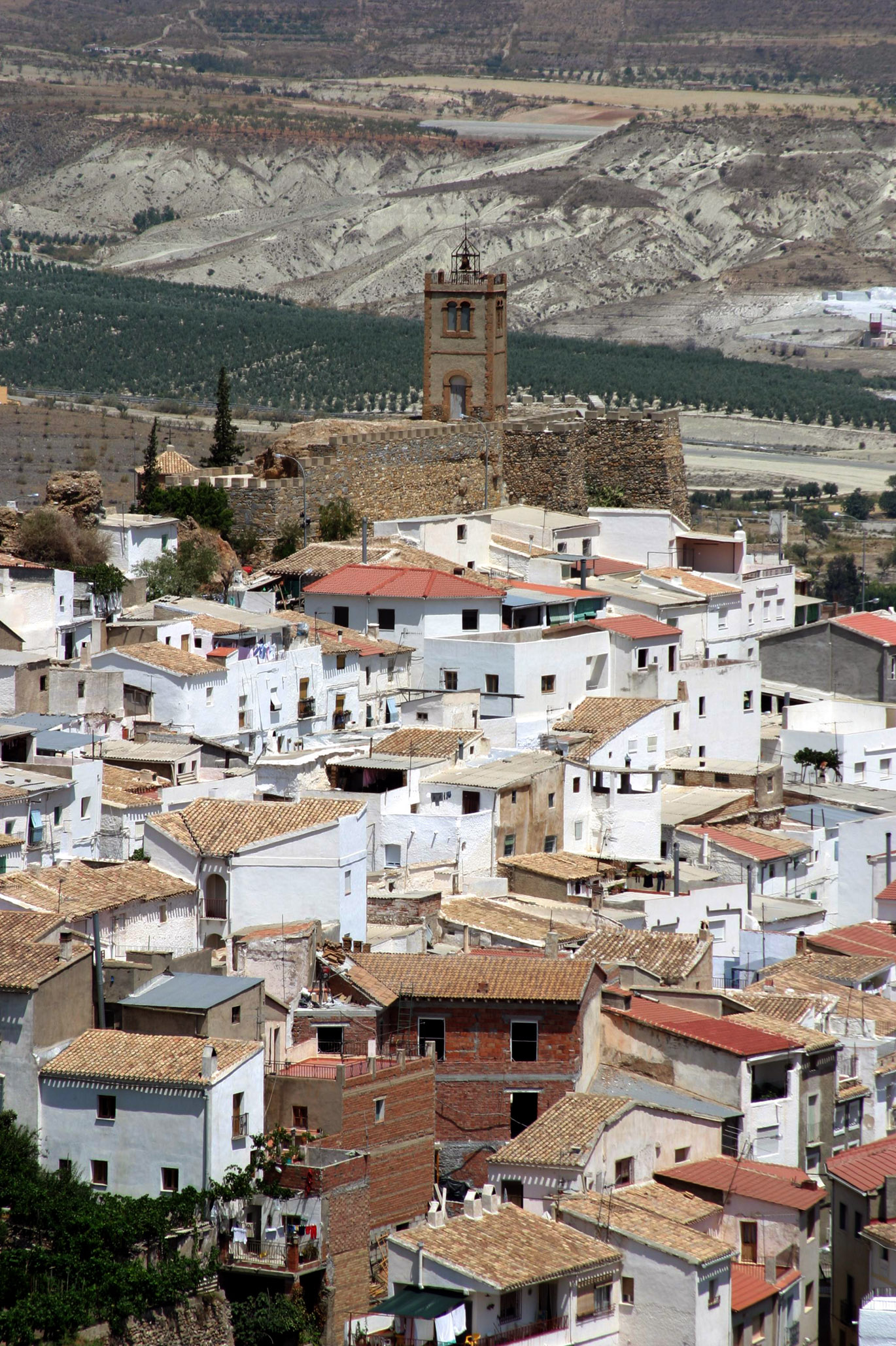 Vista general del caserío de Serón dominado por la silueta de su castillo. © Fotografía: Andrés Carrillo