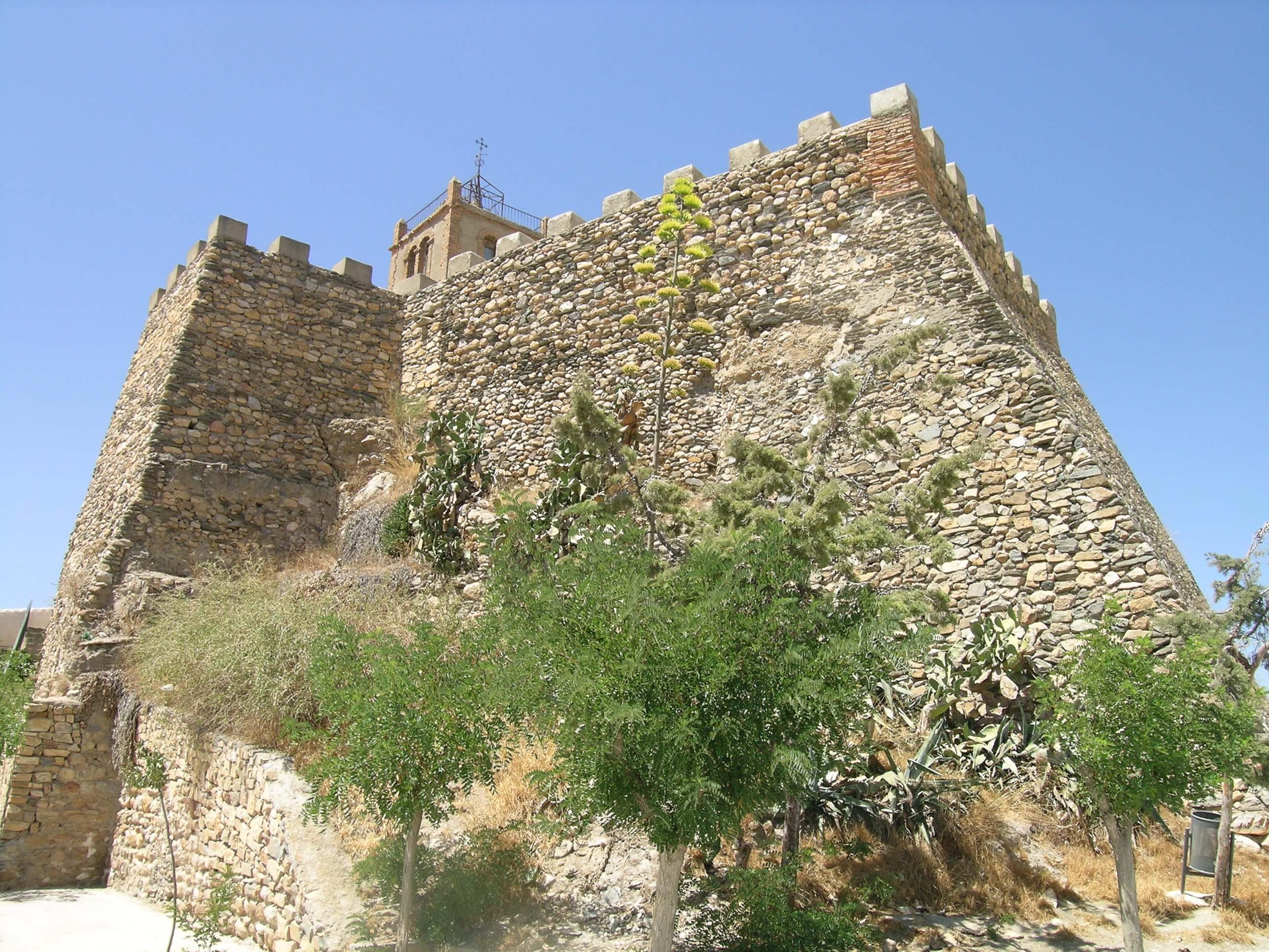 """Volumen del castillo con su reciente """"restauración"""". © Fotografía: Alfonso Ruiz"""