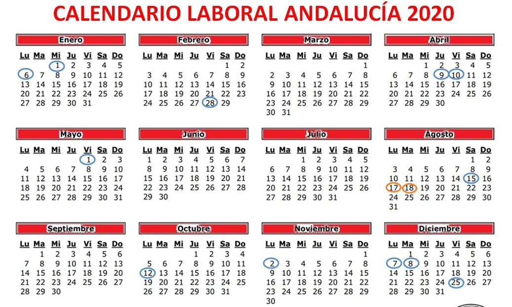 Calendario autonómico y local