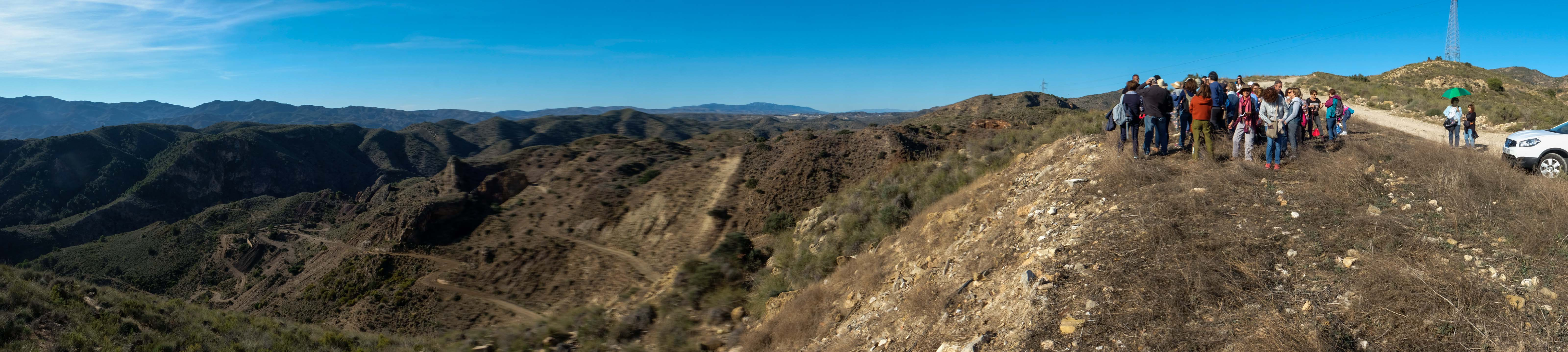 Mirador y ruinas del antiguo complejo minero de San Manuel © Fotografía: Paco Bonilla