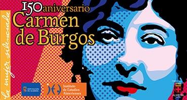 panel inicio exposición Carmen de Burgos