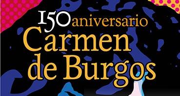 Panel Créditos exposición Carmen de Burgos