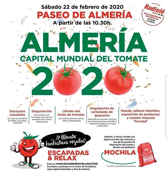Diputación y 'Sabores Almería' celebran con los almerienses el Día del Tomate 2020