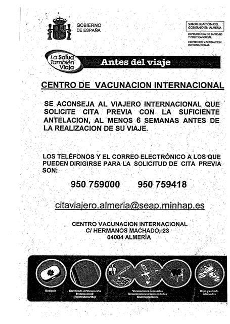 Centro de vacunación internacional