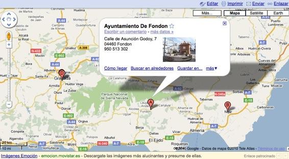 Tel fonos de inter s excmo ayuntamiento de fond n for Oficina catastro almeria