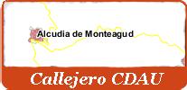 Callejero CDAU de Alcudia de Monteagud